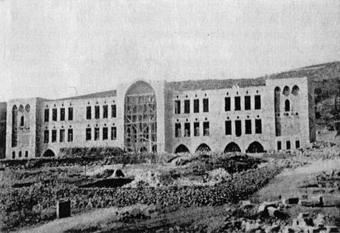 בניין הטכניון הישן בשלבי בנייה