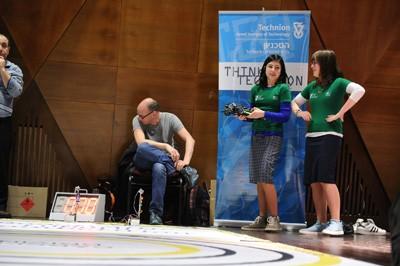 הזוכות בתחרות רחלי לובסקי (מימין) ולאה ברעם מאורט דניפרופטרובסק. צילום: שיצו צלמים, דוברות הטכניון