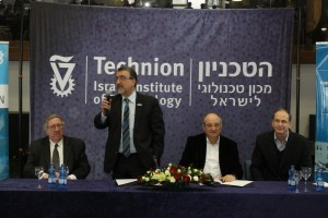 March 2014 at opening meeting of the Waterloo-Technion Research Cooperation Program held in Haifa, Israel (from left to right): George Dixon,  V.P. University Research, University of Waterloo, Feridun Hamdullahpur, president   and vice-chancellor of the University of Waterloo, Prof. Peretz Lavie, Technion President and Prof. Oded Shmueli, former Executive Vice President for Research at the Technion.