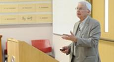 פרופסור ז'אן מרי ליין בהרצאה
