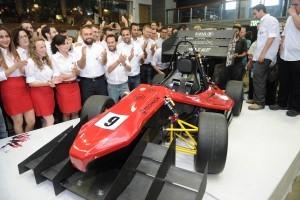 מכונית הפורמולה שתייצג את הטכניון באליפות הפורמולה לסטודנטים