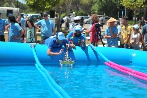 The winning boat designed by Hila Shmuel, Itay Mangel and Aviv Nachmias