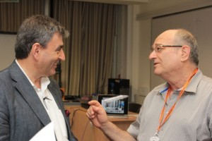 Prof. Mazur (left) with Technion President Prof. Peretz Lavie