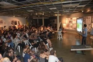 """הסטודנטית ליז לייבוביץ' הציגה את הפרויקט שלה """"מושעא-מושעא"""""""