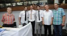 First prize winners - students Ziv Sela, Dror Avitan and Oron Shinar