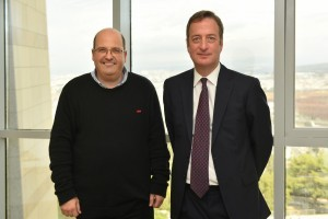 שגריר בריטניה בישראל דייוויד קוורי עם פרופ' ליאור גפשטיין
