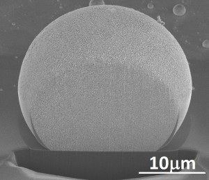 The nano-porous single crystal particles can reach tenth of microns