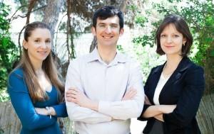 מימין לשמאל: ילנה דומשק, אלכס דומשק, אירה בלכמן
