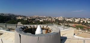 תחנת ייחוס של הפרויקט הלוויני EGNOS על גג הפקולטה להנדסה אזרחית וסביבתית בטכניון