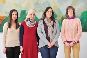 מימין לשמאל : יבגניה אורלוב, ניצן קרינסקי, חנאן אבומנהל ומאריה סלאמה