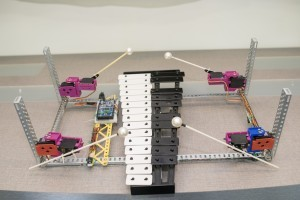 The robotic xylophone at the lab