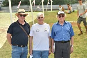 השופטים בתחרות. מימין לשמאל : פרופ' דוד דורבן ופרופ' אלון גני מהפקולטה להנדסת אוירונוטיקה וחלל ופרופ' אלון וולף מהפקולטה להנדסת מכונות