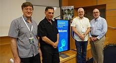 מימין לשמאל: פרופ' גדי איזנשטיין, פרופ' אורי סיון, פרופ' מוטי שגב ופרופ' מאיר אורנשטיין. צילום : דוברות הטכניון