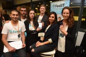 צוות FeelIT שזכה במקום השני.