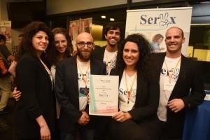 צוות SerVx שזכה במקום השלישי