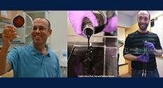 פרופ' רועי קישוני וד״ר מייקל ביים, פוסט-דוקטורנט מהמעבדה של פרופ׳ קישוני בהרווארד