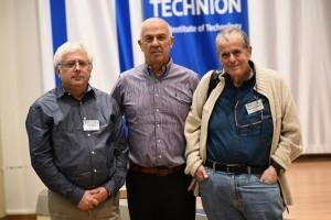 מימין לשמאל: פרופ'-מחקר אהרן צ'חנובר, פרופ' אליעזר שלו ופרופ' זאב רונאי