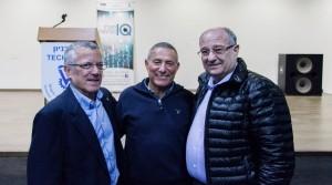 בתמונה, מימין לשמאל: נשיא הטכניון פרופ' פרץ לביא, האלוף במיל' דורון אלמוג וסגן הנשיא לקשרי חוץ ופיתוח משאבים פרופ' בועז גולני.