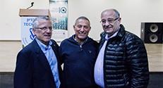 בתמונה, מימין לשמאל: נשיא הטכניון פרופ' פרץ לביא, האלוף במיל' דורון אלמוג וסגן הנשיא לקשרי חוץ ופיתוח משאבים פרופ' בועז גולני