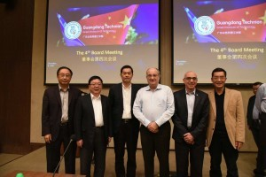 Left to right: Shantou University Provost Prof. Gu Peihua, GTIIT Chancellor Mr. Li Jiange, Shantou Mayor Liu Xiaotao, Technion President Prof. Peretz Lavie, Assistant to the President for Strategic Projects Prof. Paul Feigin, and Shantou University Vice President Prof. Lin Danming