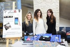 מימין לשמאל : הילה לבבי, ספיר כהן ונועה פז  צילום : שיצו צלמים, דוברות הטכניון