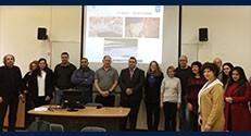 מר האשם חוסין (במרכז, עם עניבה אדומה) בביקור בפקולטה לחינוך למדע וטכנולוגיה