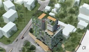 האדריכלים אלי קרמר, שירי מוטס לוין ו-FAB314AW זכו בפרס הראשון בתחרות התכנון למעונות הסטודנטים לרפואה של הטכניון ברחוב אלנבי שבעיר התחתית בחיפה והם יקבלו 40,000 שקל