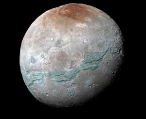 חגורת כארון (בתכלת). באדיבות NASA/JHUAPL/SwRI