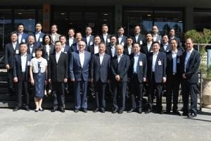 מזכיר המפלגה ונשיא הטכניון עם נציגי המשלחת מגואנדונג