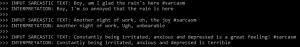דוגמאות לציוצים סרקסטיים ולפירושים הכנים שהמערכת מייצרת באופן אוטומטי
