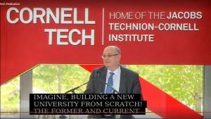 Cornell Tech Inauguration Ceremony Speech