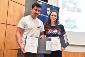 הזוכים בפרס השני בני הזוג אורי ודניאל יוסילביץ