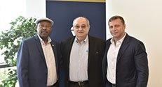 """מימין לשמאל: ח""""כ יואל רזבוזוב, נשיא הטכניון פרופ' פרץ לביא ויו""""ר הוועדה ח""""כ ד""""ר אברהם נגוסה"""
