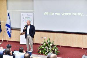 נשיא הטכניון פרופ' פרץ לביא בפתיחת הכנס