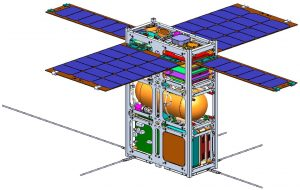 בשרטוט : התכנון המכני של הלוויין