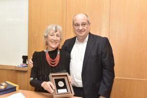 נשיא הטכניון פרופ' פרץ לביא עם גב' שרה ארנסון
