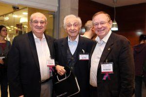 מימין לשמאל: פרופ' רפי ביאר, עוזיה גליל ופרופ' פרץ לביא