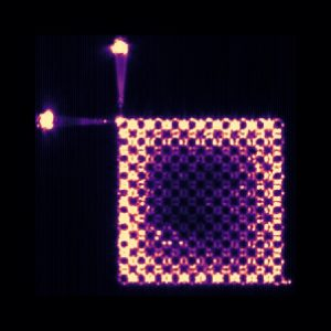 תמונת-על של תצורת האור בלייזר המבודד הטופולוגי