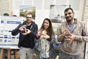 הסטודנטים מעין שובל, שגיא פדואל ואביחי יפת פיתחו את HearMe - אפליקציה לתרגום דיבור לשפת הסימנים.