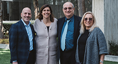 (r-l) Dr. Lena Lavie, President Peretz Lavie, Jackie Safier, President of the Helen Diller Family Foundation, Jeff Richard, CEO of the American Technion Society.