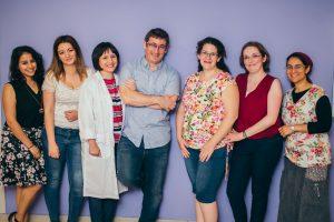 תמונה קבוצתית של החוקרים במעבדת שן-אור