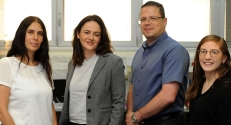 Group photo (L-R): Dr. Azulay-Debby, Prof. Rolls, Prof. Hakim and Maya Schiller
