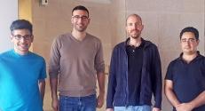 (L to R) Dr. Lucien E. Weiss, Elias Nehme, Assistant Professor Yoav Shechtman and Assistant Professor Tomer Michaeli