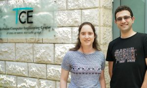 Prof. Mark Silberstein and Marina Minkin<br /> Photo Credit: Nitzan Zohar, Technion spokesperson's office