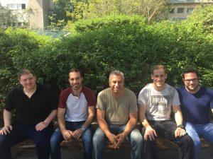 """מימין לשמאל: ד""""ר גיא קמינצקי, גיא מן, פרופ' אשרף בריק, מוחמד ג'בארה ושי לפס"""
