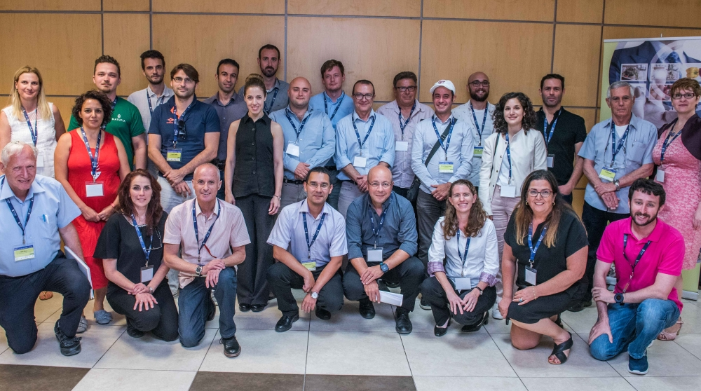 All Participants with the leading team, business mentors, Professors Marcelle Machluf, Ester Segal and Uri Lesmes, Strauss Group CTO Eyal Shimoni , Dr. Avital Regev Siman-Tov, Inbal Cavari, Iris Moskowitz, Memi Genosar, Ifat Peled, Rafi Nave and Assaf Neiger