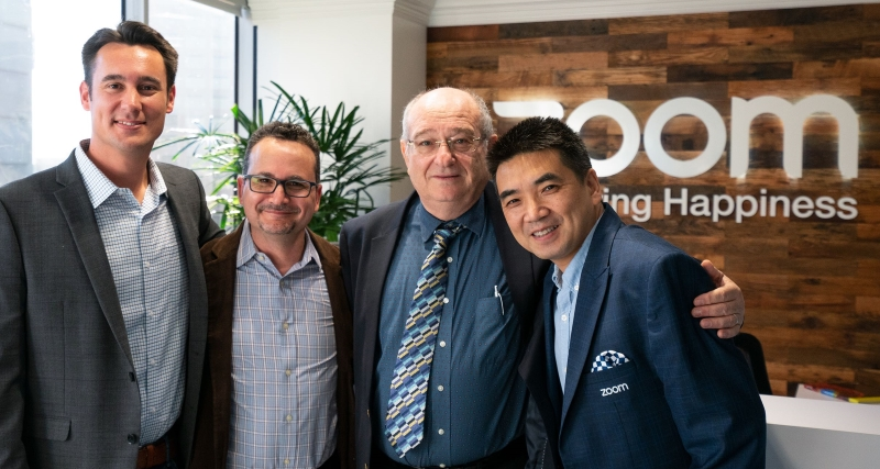 (l-r): Peter Aguilar (Zoom), Oded Gal (Zoom), Prof. Peretz Lavie (Technion), and Eric S. Yuan (Zoom).