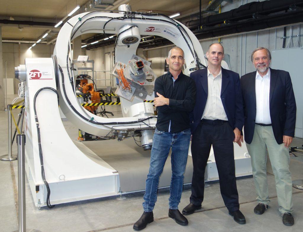 (L-R) Prof. Ilan Koren, Prof. Yoav Schechner, and Prof. Klaus Schilling