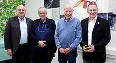 בתמונה, מימין לשמאל: פרופ' רפי ביאר, פרופ' אברהם הרשקו, פרופ' אהרון צ'חנובר ופרופ' פרץ לביא. צילום: פיוטר פליטר.