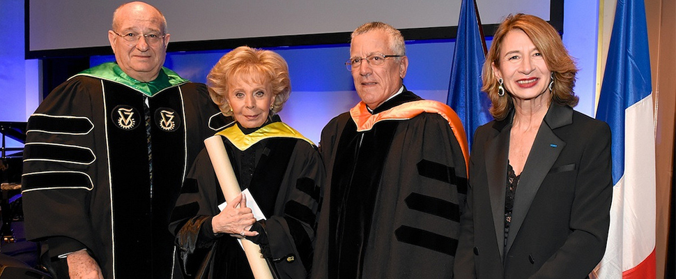 Madame Lily Safra Receives Honorary Doctorate